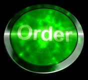 Кнопка заказа для покупки онлайн перевода 3d иллюстрация штока