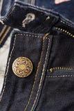 Кнопка заклепки джинсов Фасонируйте джинсыы Стоковая Фотография
