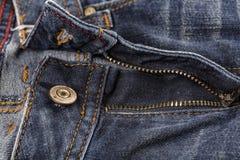 Кнопка заклепки джинсов Фасонируйте джинсыы Стоковые Изображения RF