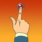 Кнопка звонка пресс посетителя иллюстрация вектора