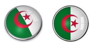 кнопка знамени Алжира Стоковые Изображения
