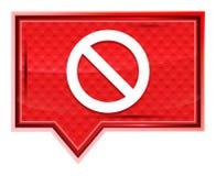 Кнопка знамени значка запрета туманная розовая розовая иллюстрация вектора