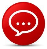 Кнопка значка беседы красная круглая Стоковые Изображения