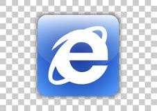Кнопка значка браузера программного обеспечения Internet Explorer с символом внутрь бесплатная иллюстрация