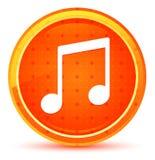 Кнопка значка примечания музыки естественная оранжевая круглая иллюстрация вектора