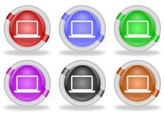 Кнопка значка сети портативного компьютера бесплатная иллюстрация