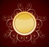 кнопка золотистая Стоковые Фотографии RF