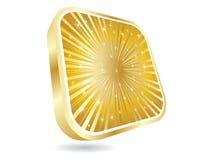 кнопка золотистая Стоковое фото RF