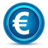 Кнопка зрачка значка знака евро голубая круглая иллюстрация штока