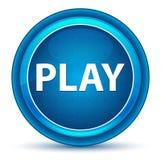 Кнопка зрачка игры голубая круглая иллюстрация вектора