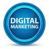 Кнопка зрачка маркетинга цифров голубая круглая иллюстрация вектора