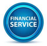 Кнопка зрачка финансового обслуживания голубая круглая иллюстрация вектора