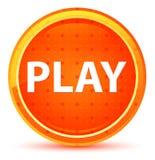 Кнопка игры естественная оранжевая круглая иллюстрация вектора