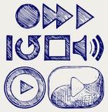 Кнопка игры Стоковая Фотография