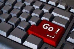 кнопка идет красный цвет Стоковая Фотография
