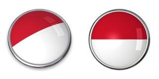 кнопка Индонесия знамени Стоковые Изображения RF