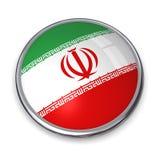 кнопка Иран знамени Стоковые Фотографии RF