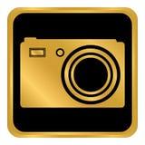 Кнопка камеры на белизне Стоковое Изображение