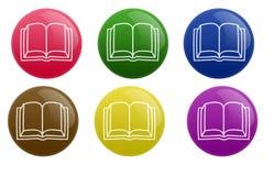 кнопка книги лоснистая иллюстрация вектора