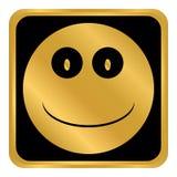 Кнопка круга стороны улыбки Стоковые Изображения