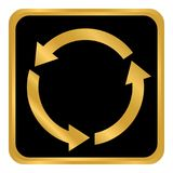 Кнопка круга стрелок Стоковые Изображения RF