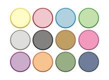 Кнопка круга цвета 2 Стоковое Изображение