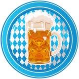 Кнопка круга Oktoberfest Стоковые Фотографии RF