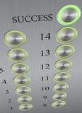 Кнопка к успеху Стоковые Фотографии RF