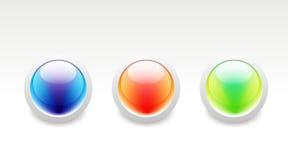 кнопка лоснистая Стоковое Изображение