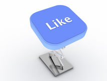 кнопка любит Стоковое Изображение