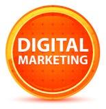 Кнопка маркетинга цифров естественная оранжевая круглая иллюстрация вектора