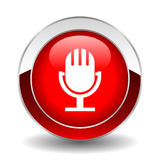 Кнопка микрофона Стоковое Изображение RF