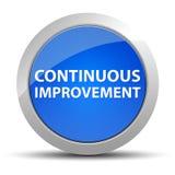 Кнопка непрерывного улучшения голубая круглая иллюстрация вектора
