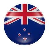 Кнопка Новой Зеландии на белой предпосылке иллюстрация вектора