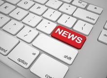 Кнопка новостей клавиатуры Иллюстрация штока