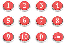 Кнопка номера Стоковое Изображение
