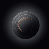Кнопка логотипа покрашенного круга Стоковые Фото
