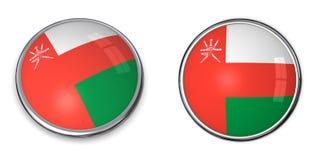 кнопка Оман знамени Стоковое Фото