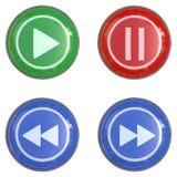 кнопка лоснистая Стоковые Изображения RF