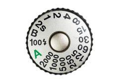 Кнопка отпуска штарки и шкала скорости Стоковые Фото