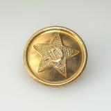 Кнопка от военных форм Советской Армии стоковое фото rf