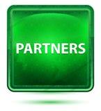 Кнопка партнеров неоновая салатовая квадратная бесплатная иллюстрация