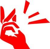 Кнопка пальцев бесплатная иллюстрация