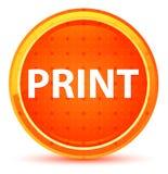 Кнопка печати естественная оранжевая круглая бесплатная иллюстрация