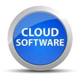 Кнопка программного обеспечения облака голубая круглая бесплатная иллюстрация