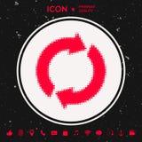 Кнопка сброса, стрелки перезарядки - логотип полутонового изображения Стоковые Изображения