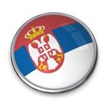 кнопка Сербия знамени Стоковое Фото