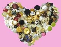 Кнопка сердца влюбленности Стоковое фото RF