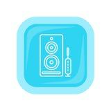 Кнопка сети дикторов компьютера Громкоговорители ПК Стоковые Фотографии RF