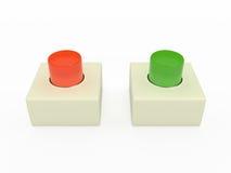 Кнопка сигнала тревоги, 3D Иллюстрация вектора